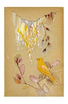 Golden Icicles 5.5 X 8.5 limited edition PRINT by yumiyumi on Etsy, $20.00
