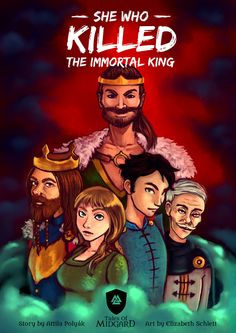 The front cover page of the webcomic: She Who Killed The Immortal King.