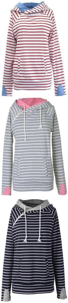 Hot sale at $19.99 with Free Shipping& Easy Returns! This casually cute sweatshirt is perfect for spring.It has double fabric hood & Irregular zipper at front. Plus, the fabric is super soft and comfy! Pick up more at Cupshe.com !