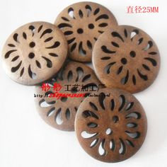 Nursery Kids Diy Antique Hollow Flower High quality wooden buttons bulk wood button mixed for crafts 100pcs/lot E 45-in Buttons from Apparel & Accessories on Aliexpress.com