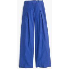 J.Crew Wide-Leg Pant (17.645 RUB) ❤ liked on Polyvore featuring pants, petite, wide pants, wide-leg pants, j.crew, blue pants and petite wide leg pants