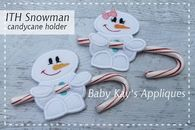 In The Hoop Snowman Candy Cane Holders
