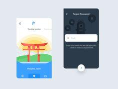 Trendingforgot password (flutter app) by Prakhar Neel Sharma #Design Popular #Dribbble #shots