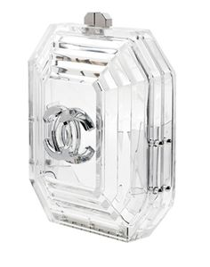 Chanel clear / transparent clutch.