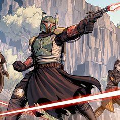 Star Wars Boba Fett, Jango Fett, Comic Books Art, Comic Art, Admiral Ackbar, Star Wars Images, Gears Of War, Ahsoka Tano, Bounty Hunter