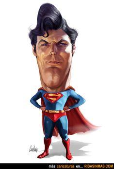 Caricatura de Superman