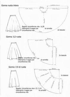 Cartamodelli per gonne lunghe
