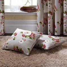 Pair of Tweed Rose Cushion Covers