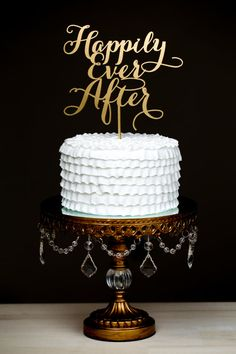 'Happily Ever After' Wedding Cake Topper by BetterOffWed