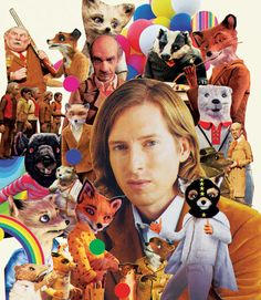 Wes Anderson Fantastic Mr. Fox Collage