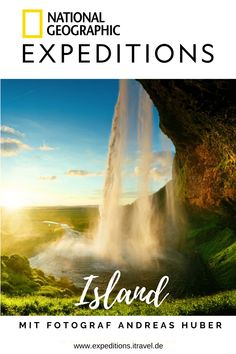 Kräftespiel der Natur in Island – Mit National Geographic National Geographic Expeditions, Aktiv, Island, Waterfall, Outdoor, Europe, Holiday Destinations, Destinations, Travel Inspiration
