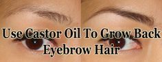 Eyebrows hair can be affected by hair loss or over plucking. With the use of a natural oil, you can grow it back inexpensively and natural.http://www.extremenaturalhealthnews.com/use-castor-oil-to-grow-back-eyebrow-hair/