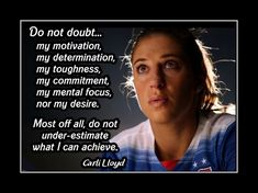 Girls Soccer Inspiration Poster, Coaching Wall Art, Daughter Wall Decor featuring Carli Lloyd and a compelling message. It's an uplifting, lasting gift for any aspiring soccer player. It will certainly motivate and encourage. Inspirational Soccer Quotes, Motivational Wall Art, Wall Art Quotes, Quote Wall, Soccer Motivation, Motivation Wall, Lacrosse, Hockey, Carli Lloyd