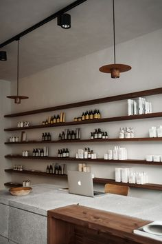Going East has designed the interior of this hair salon informed by the way the owner cuts hair – celebrating simplicity, detailing and purity.