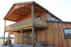 western home | - all wood quality custom wood barns - barn homes - rustic barn home ...