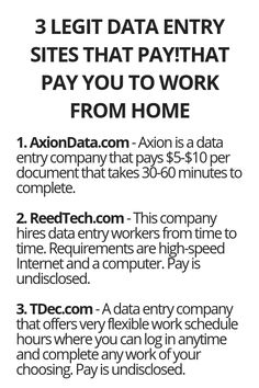 3 Legit Data Entry Sites That Pay You To Work From Home - Wisdom Lives Here (With images)