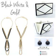 Black, White & Gold www.pinkrevolver.com.mx #PinkRevolver #ShopOnline