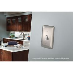 If you want to refresh a room in your home, try changing out the outlet & switch covers. Shop Liberty Hardware now for the little details that make a big difference. Switch Covers, Switch Plates, Nickel Finish, Bathroom Medicine Cabinet, Faucet, Hardware, Satin, Inspiration, Collection