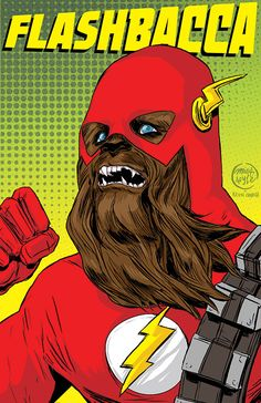 Two of my favorite things combined? The Flash and Star Wars?   Boo-freaking-yeah. I think I just died a little inside... Greatest thing EVER!