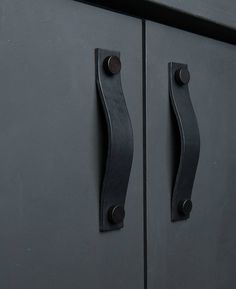Our THOR leather kitchen door handle is a leather strap pull for drawer & cupboard handles. Ideal for styling rustic furniture in industrial interiors.
