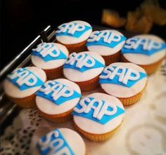SAP Cupcakes, courtesy of my colleague Tim Nagels Cookies, Dining, Desserts, Recipes, Food, Crack Crackers, Tailgate Desserts, Deserts, Biscuits