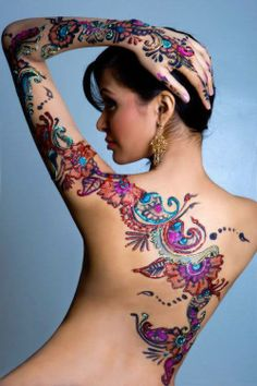 The colors are gorgeous # tattoo # tattoo . - The colors are gorgeous # tattoo art - Spine Tattoos, Badass Tattoos, Body Art Tattoos, Sleeve Tattoos, Tatoos, Thigh Tattoos, Tattoo Henna, Lace Tattoo, Henna Tattoo Designs