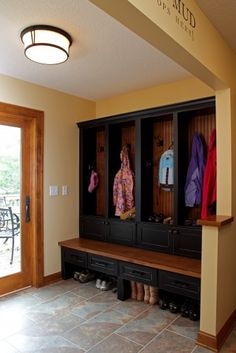 mudroom CHRIS , I COULD MEASURE YOUR SPACE AND Hve this done up for you if you want!! look at my board named peggy more ideas for mud rooms