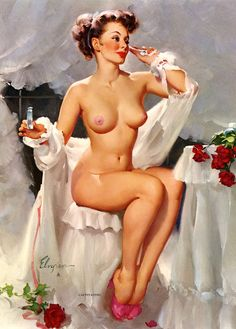 """Captivating"" by Gil Elvgren, 1962"