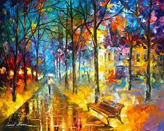 Fog Of Color Canvas Print / Canvas Art by Leonid Afremov
