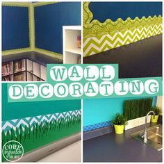 Decorating walls in your classroom with CTP borders? Get ideas at Core Inspiration by Laura Santos.