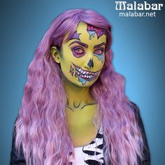 We can't get enough of pop zombie make-up! This look was created using water-based Mehron Paradise Make-up, available at www.malabar.net