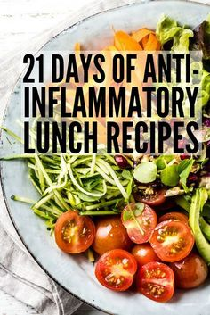 In an anti-inflammatory diet, we primarily move away from the overly processed, unbalanced diets of the West and toward the ancient eating patterns. Here are the best anti-inflammatory foods on the planet. Detox Recipes, Lunch Recipes, Healthy Recipes, Clean Diet Recipes, Alkaline Diet Recipes, Healthy Breakfasts, Healthy Detox, Healthy Eating, Diet Detox