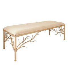 Take a look at this Gold & Beige Bench today!