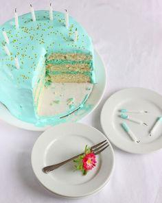OldFashioned Birthday Cake snow white vanilla cake filled w