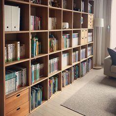 집꾸미기 Bookshelves, Bookcase, Muji, Cafe Design, Real People, Homeschooling, Living Room, Interior, Home Decor