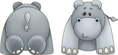 Silhouette Design Store - View Design #11857: zoo hippo