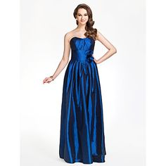 Sweetheart Sheath/Column Floor-length Taffeta Bridesmaid Dress – USD $ 129.99