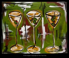 Three Martinis www.thepaintbar.com
