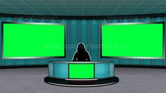 2D 3D Green Screen Background Best Suited For A Variety News Based Show
