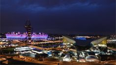 Olympic Park during the Opening Ceremony
