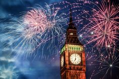 Silvester in London Big Ben