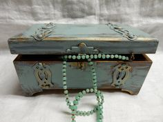 Please visit my shop on Etsy.  Hand painted heavy distress jewelry box / by cgraceandcompany