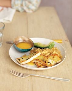 Shallot-Marinated Tofu with Miso Dipping Sauce: Try this satisfying meatless dish. For a complete meal, pair it with a serving of whole grains and a fruit or vegetable, Wholeliving.com #vegetarian