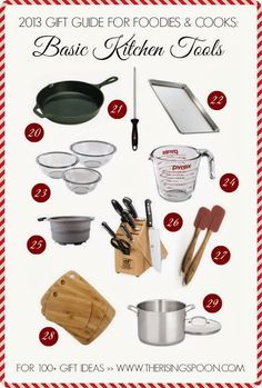 2013 Gift Guide For Foodies & Cooks: Basic Kitchen Tools   www.therisingspoon.com #holidays