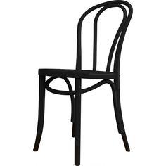Birch Café Chair, Black
