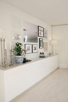 Wohnzimmer ideen - wandgestaltung mit bildern