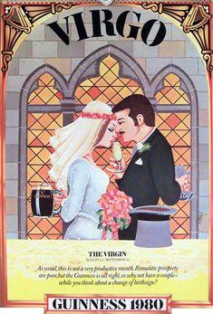 Virgo - Beerstrology Zodiac. Guinness 1980 Calendar
