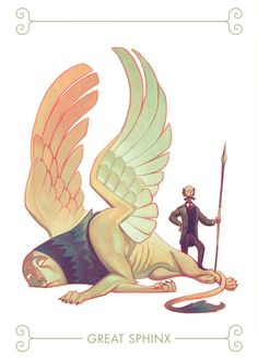 Cool sphinx illustration by deviantart user joy-ang Character Concept, Character Art, Concept Art, Illustration Tumblr, Photo Illustration, Character Design References, Creature Design, Character Design Inspiration, Fantasy Creatures