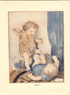 Vintage 1927 Childrens Print Two Young door printsandpastimes