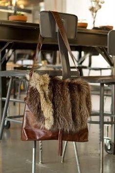 Recycled #fur bag. www.rosendorfevansfurs.com